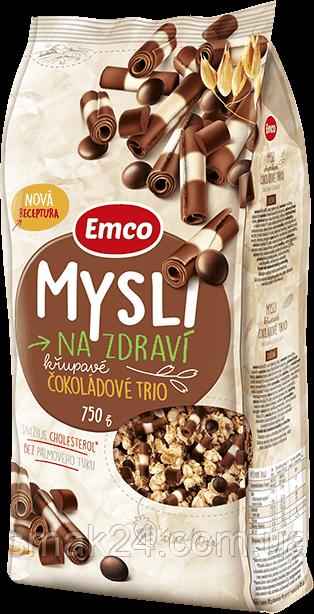 Мюслі з тріо шоколадом Emco Чехія 750г