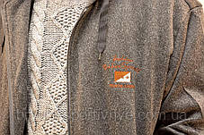 Кофта спортивна чоловіча зимова на хутрі з капюшоном - Байкерський прапор, фото 3