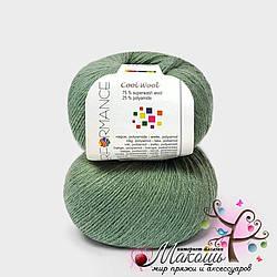 Носочная пряжа Cool wool Performance Yarn (Болгария), №135, мятный