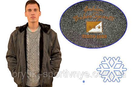 Кофта спортивна чоловіча зимова на хутрі з капюшоном - Байкерський прапор, фото 2