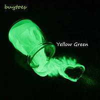 Пигмент светлячок зеленый (люминофор)  5г