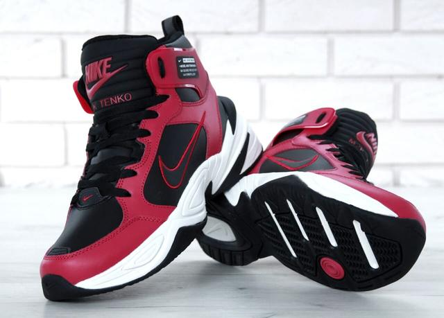 Nike M2K Tekno High Black Red Winter  фото