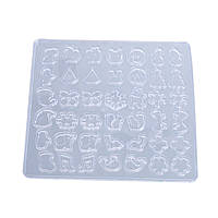 Форма для эпоксидной смолы, Полимерной глины и других материалов, Молд, Микс, Подвески, Силикон, 13.5 x 12.3cm