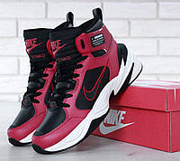 Зимние кроссовки Nike M2K Tekno High Black Red Winter, фото 1