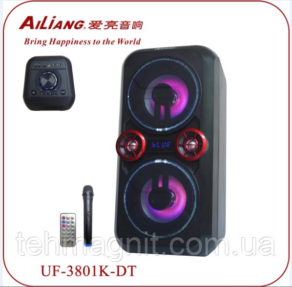 Комбопідсилювач AILIANG UF-3801K-DT акустика на акумуляторі з мікрофоном бумбокс ( Репліка)