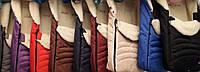 Детские зимние конверты на овчине в санки,в коляску, 9 цветов S477