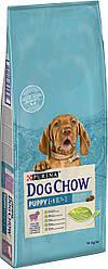 Сухой корм для щенков DOG CHOW Puppy с ягненком. 14кг