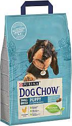 Сухой корм для собак DOG CHOW Puppy Small Breed. С курицей для щенков мелких пород . 7,5кг