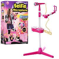 Детский Микрофон музыкальный: музыка, звук, свет, MP3, 66139-31