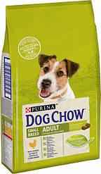 Сухой корм для собак DOG CHOW  Small Breed. С курицей для мелких пород 7,5кг