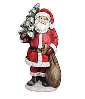 Новогодняя фигура Санта с Елкой c LED-подсветкой 80см