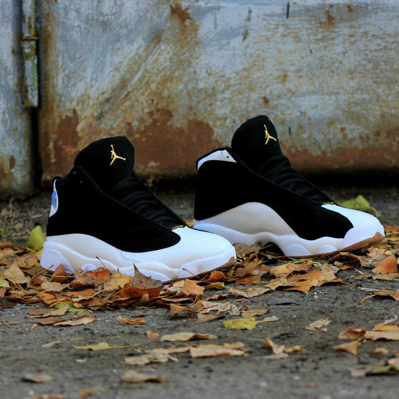 737e7a21279cf Мужские кроссовки Nike Air Jordan 13 Retro Black/White