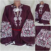 """Натуральная вышитая блузка """"Ярославна"""" для женщин, 42-54 р-ры, 940/790 (цена за 1 шт. + 150 гр.), фото 1"""