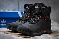 Зимние кроссовки на меху в стиле Adidas Climaproof, черные (30621)