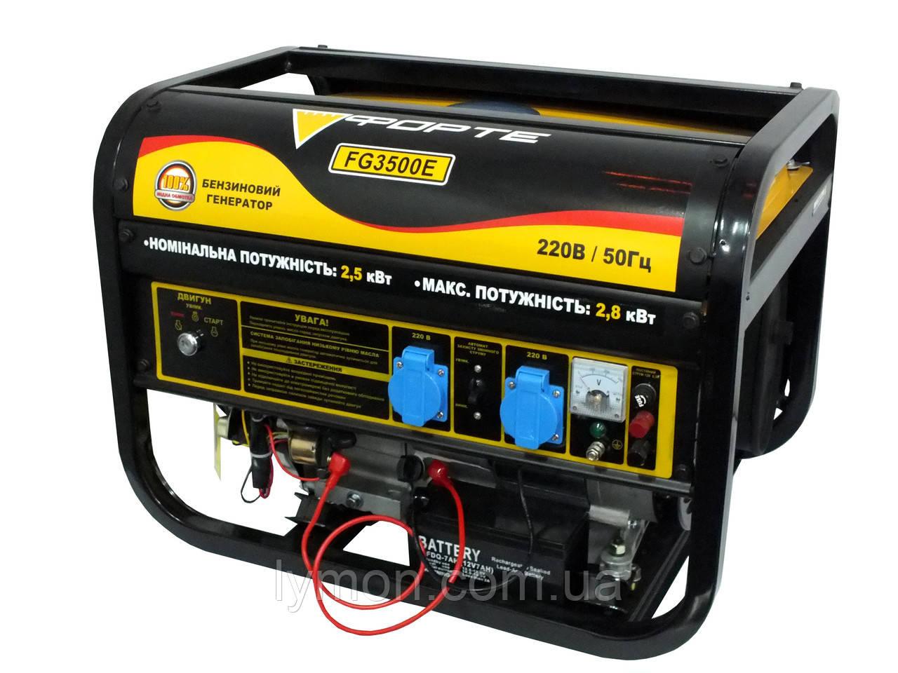 Бензогенератор FORTE FG 3500Е (2.5 кВт) ел/стартер (44888)