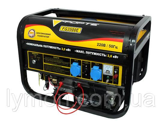 Бензогенератор FORTE FG 3500Е (2.5 кВт) ел/стартер (44888), фото 2