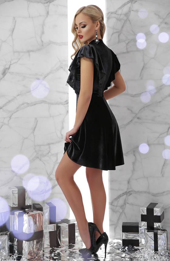Велюровое короткое новогоднее платье молодежное бордо, фото 2