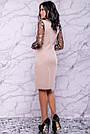 Жіноче елегантне плаття, р. 44,46,50, бежеве, з вишивкою, святкове, ошатне, вечірній, фото 6