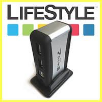 Розгалужувач USB Hub на 7 портів + блок живлення, фото 1