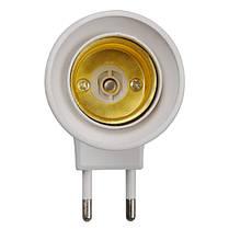 E27 ЕС розетка светильник ночник с кнопкой включения-выключения 1TopShop, фото 2
