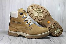 Зимові черевики підліткові натуральний нубук і натуральне хутро Konors розміри: 36,37,38,39