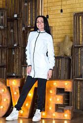 Белая спортивная ветровка женская Barmin vN1326