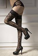 Соблазнительные чулки, женские чулки эротик кружевные. Цвет черный, размеры 2,3., фото 1