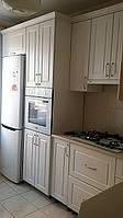 Кухня угловая, купить в Киеве. Белый/слоновая кость фасад МДФ.