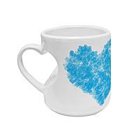 """Авторская чашка """"Голубое сердце"""""""