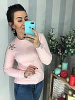 """Классный женский свитер """"Розовая нежность"""", фото 1"""