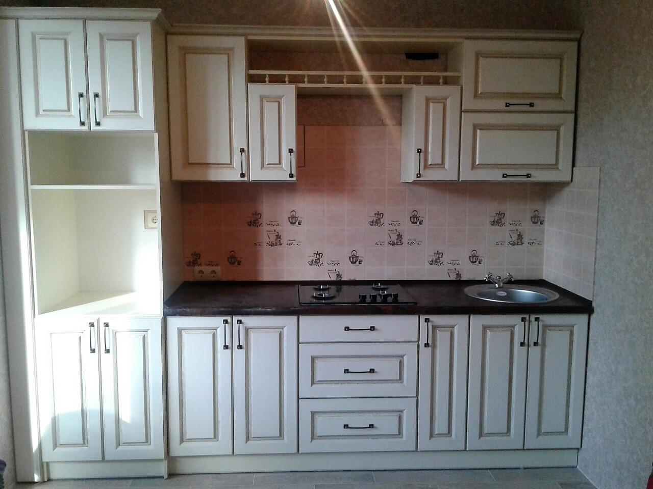 Кухня на заказ в короткие сроки купить в Киеве. МДФ-патина