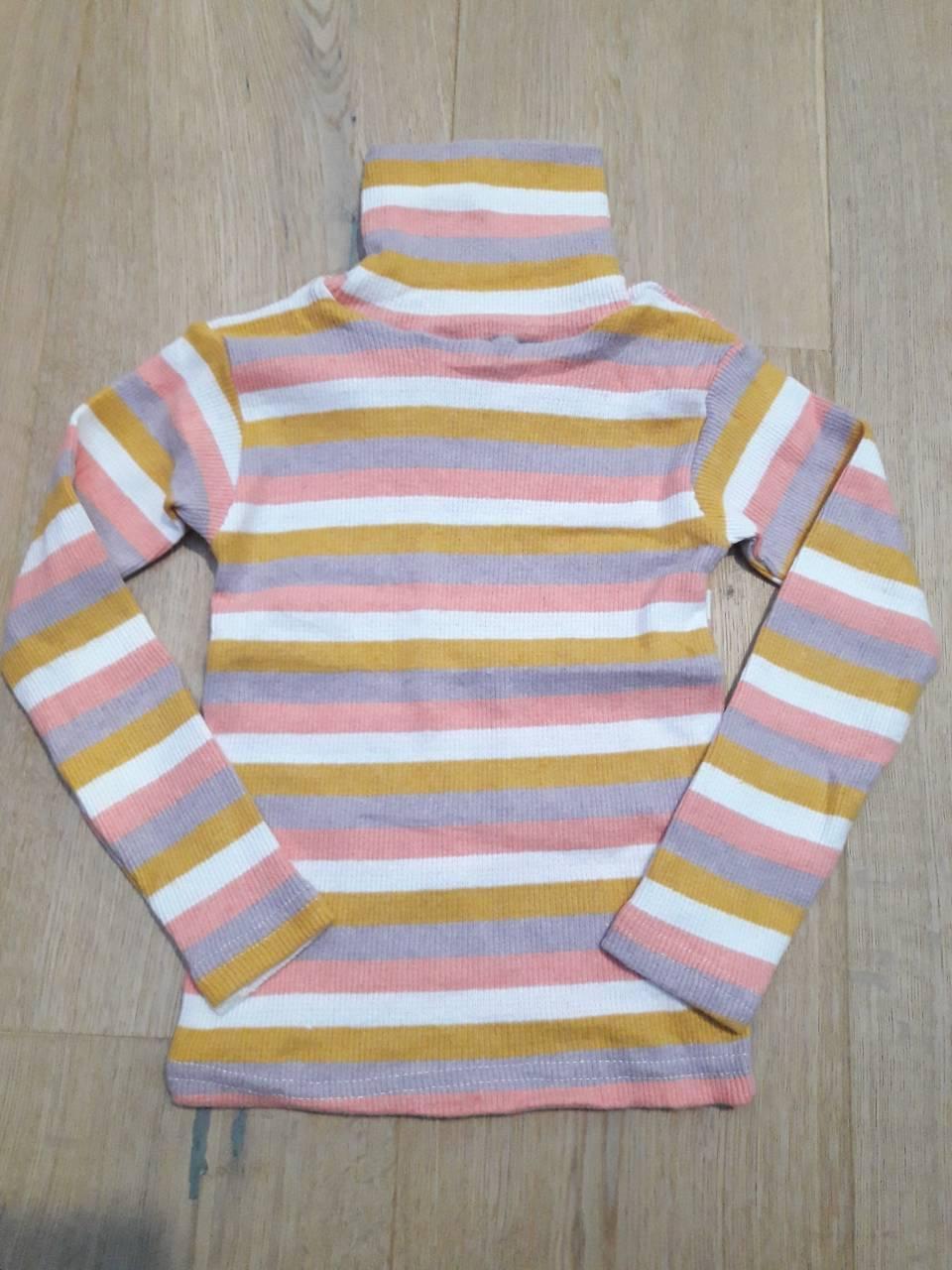 Детский гольф на девочку полосатый 5-8