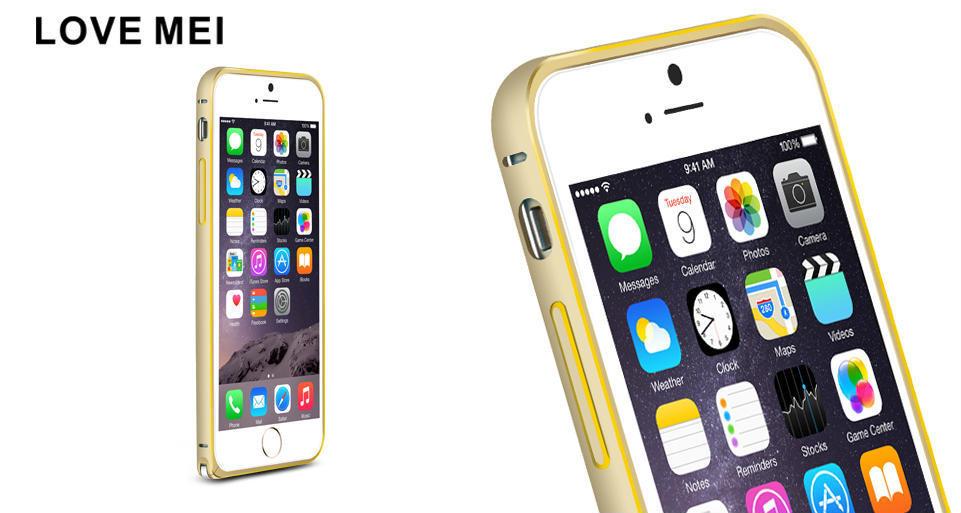 Металлический бампер Love Mei для iPhone 6