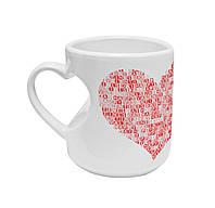 """Авторская чашка """"Красное сердце"""""""