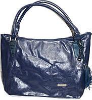 Женская сумка из искусственной кожи 33*27 см (синий), фото 1