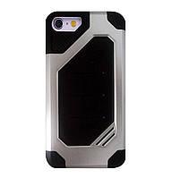 Бронированный противоударный TPU+PC чехол MOTOMO (Military) для IPhone 7 / 8 Silver, фото 1