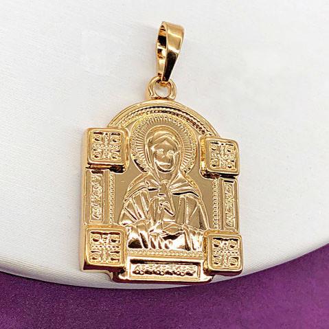 Ладанка Св. Матрона XUPING медицинское золото, позолота 18К