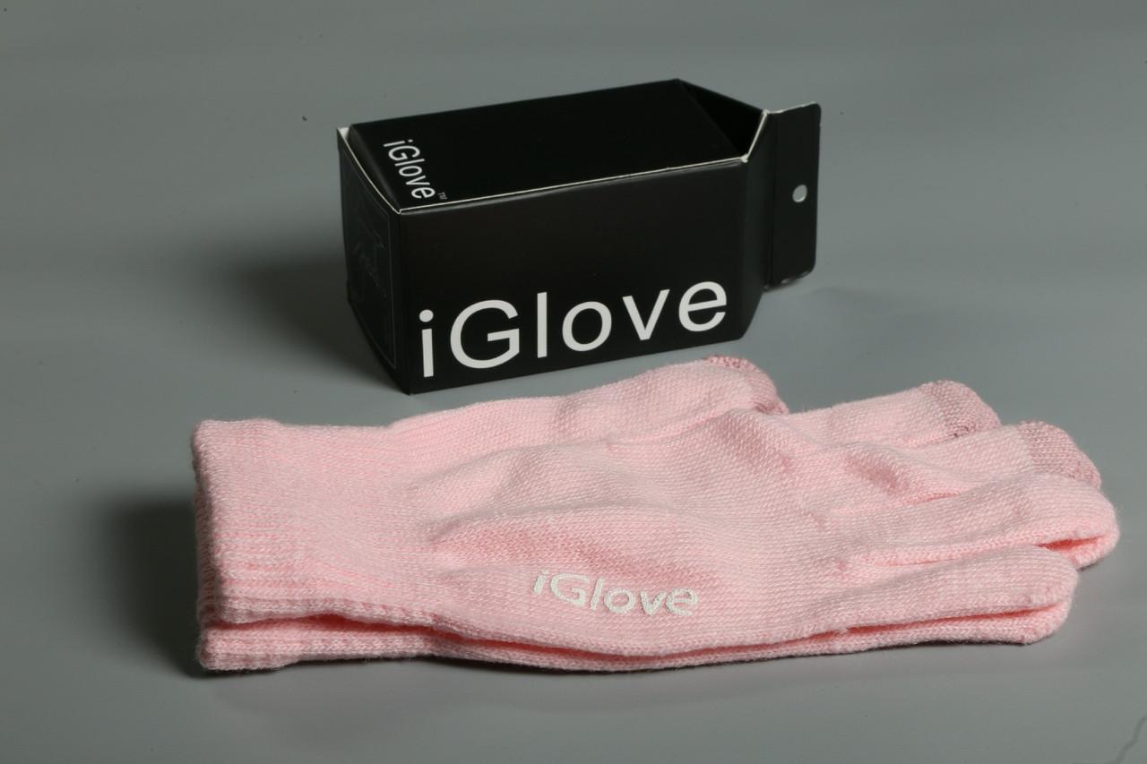 Перчатки iGlove для сенсорных устройств. Розовые (8 цветов в наличии) 90% - Акрил 8% - Спандекс 2% - Нанонить
