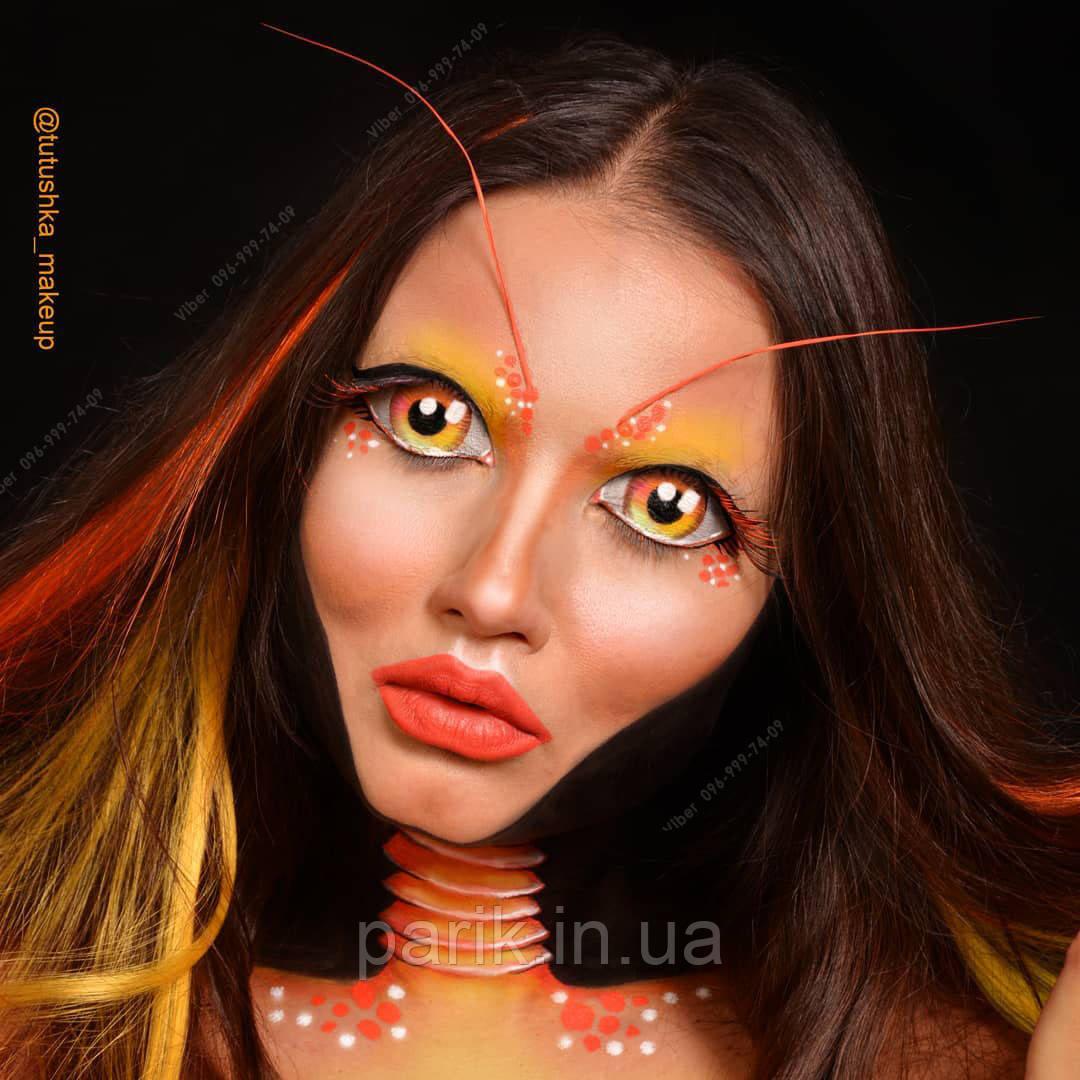 ❤️ Светло оранжевые пряди на заколках для образов с причёской ❤️