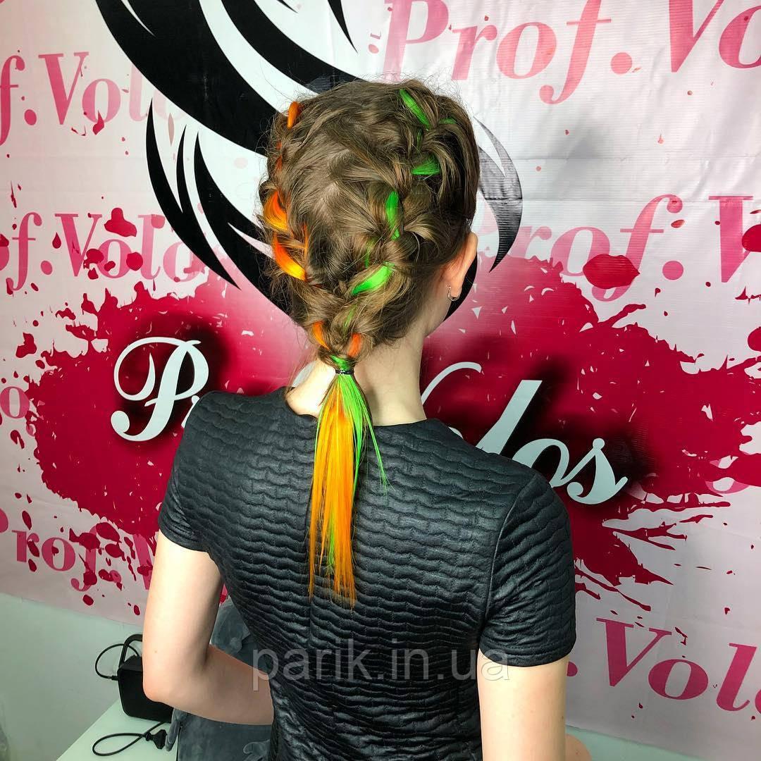 💕 Цветные пряди волос на заколках для причёсок, оранжевые 💕