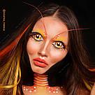 💕 Искусственные оранжевые пряди волос на заколках 💕, фото 10