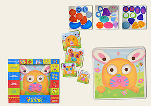 Креативные пазлы-мозаика для малышей