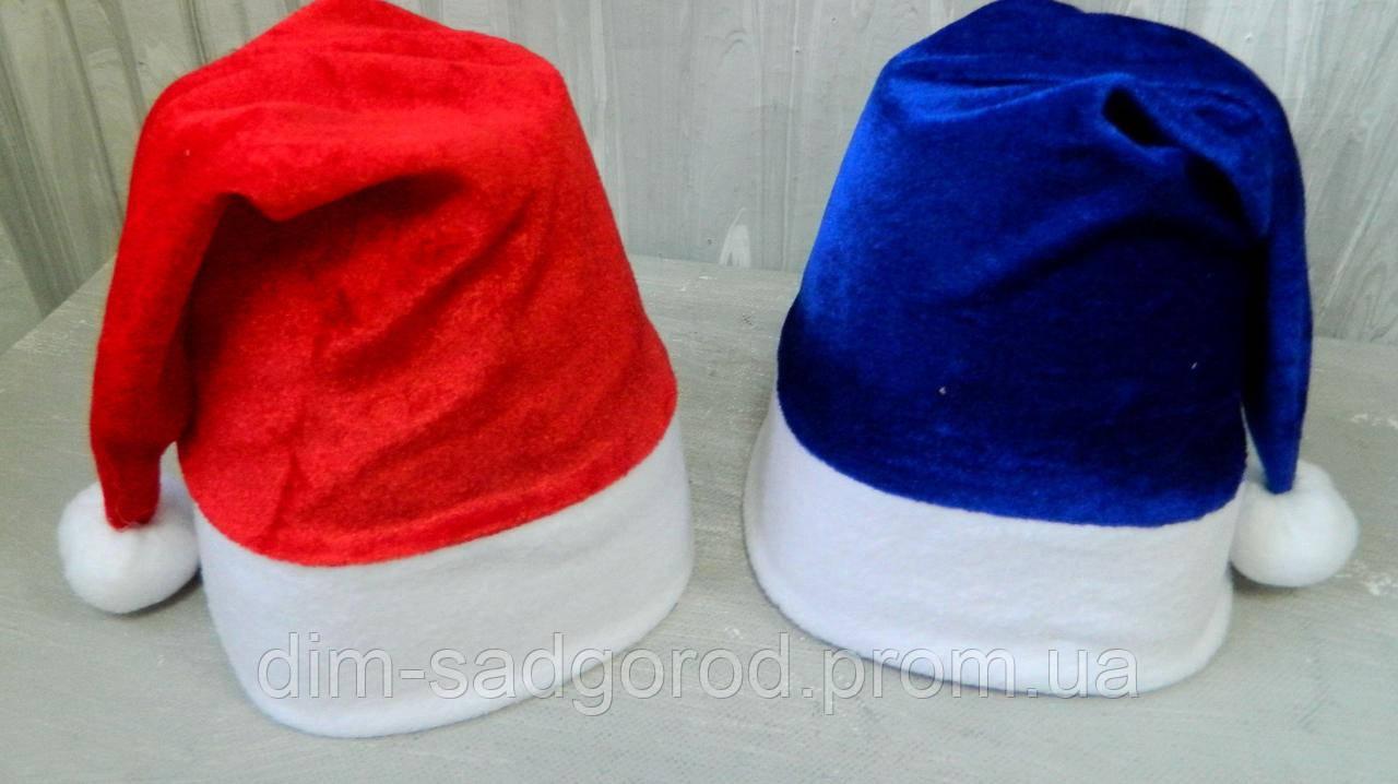 Новорічна шапка Діда Мороза (велюр) 45 23 см Новогодняя шапка Деда Мороза  (велюр) 1d25543298b65