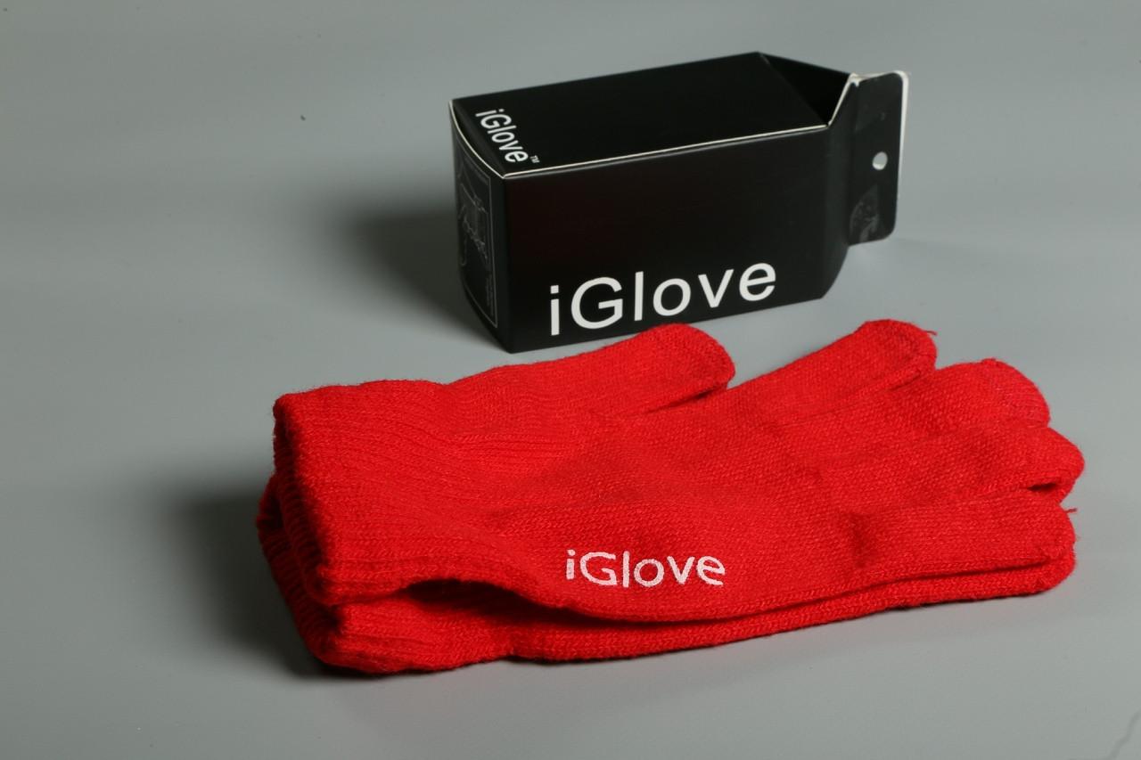 Перчатки iGlove для сенсорных устройств. Красные (8 цветов в наличии) 90% - Акрил 8% - Спандекс 2% - Нанонить
