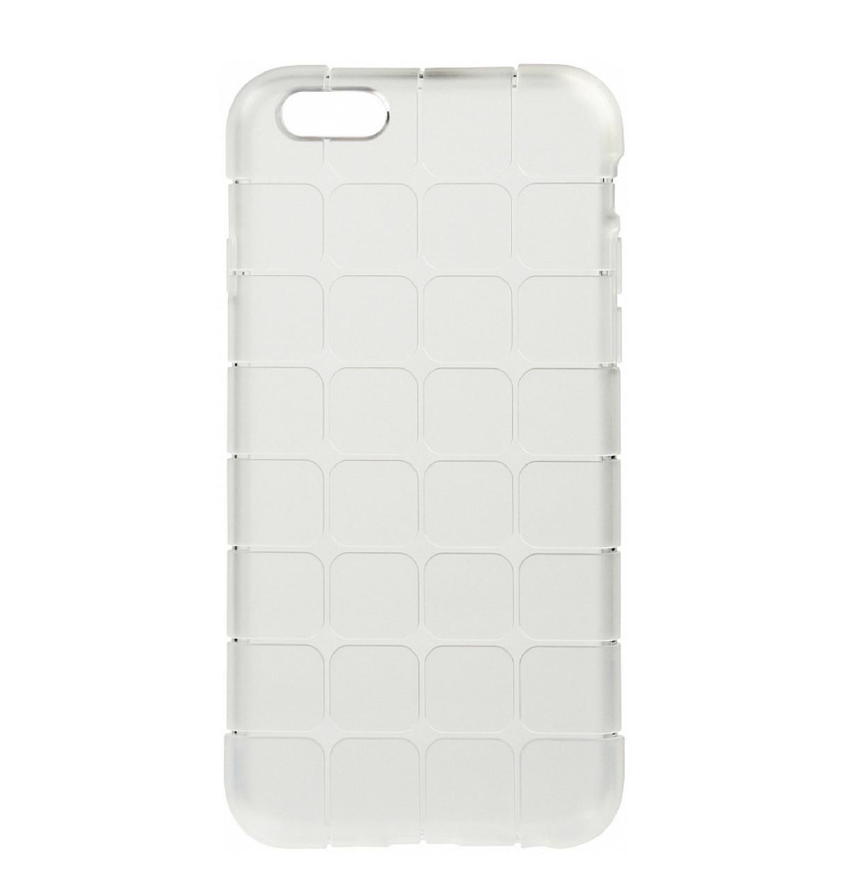 Силиконовый чехол (накладка) TOTO TPU case Square для IPhone 6 / 6s White