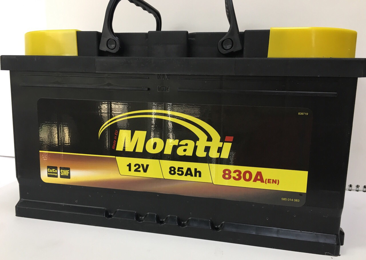 Аккумулятор Moratti 6СТ-85-АЗ (0) Евро