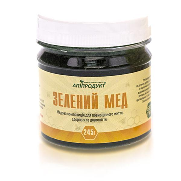 Зеленый мед + спирулина Апипродукт 245 г