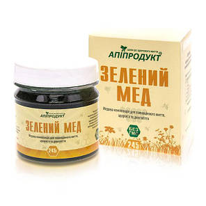 Зеленый мед + спирулина Апипродукт 245 г, фото 2
