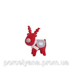 Олень керамический красный 9 см