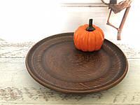 Керамическая тарелка из красной глины 20см, фото 1